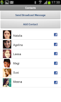 Screenshot of Bluefree Messenger - Facebook