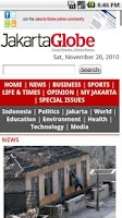 Screenshot of The Jakarta Globe