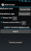 Screenshot of ROM Patcher