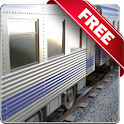 Moving train free icon