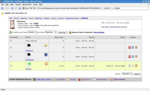 Internet Cafe Billing Software Linux