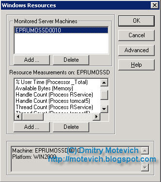 Windows Resources dialog