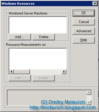 Empty Windows Resources dialog