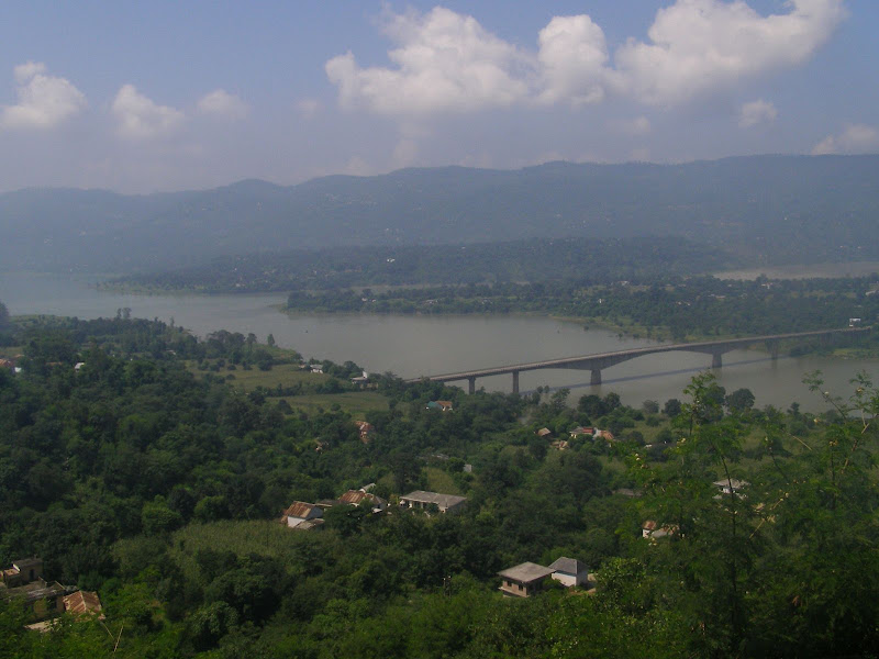View from the Hotel Room in Bilaspur