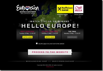 Eurovision Song Contest - Belgrade 2008