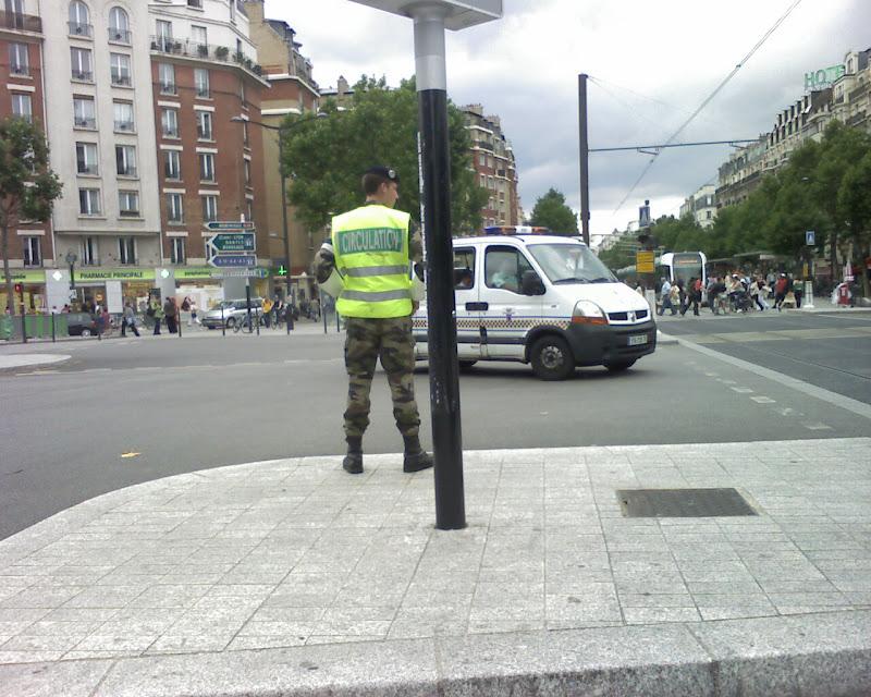 Militaire dans la circulation