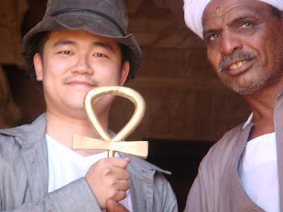 アブシンベル大神殿の鍵と門番さん