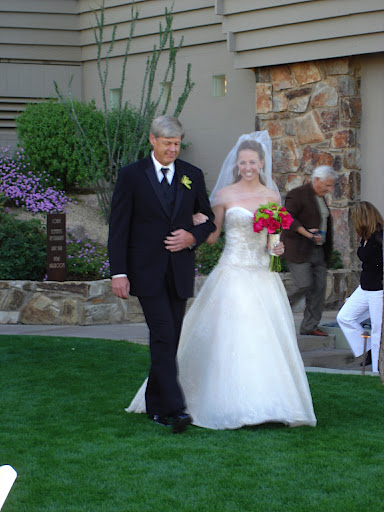 Dad walks me down the aisle.
