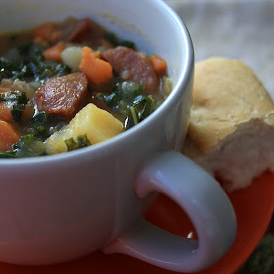 Sausage, Kale, and Sweet Potato Soup