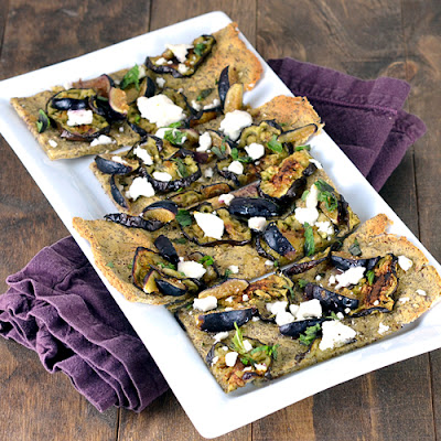 Eggplant, Fig & Goat Cheese Flatbread