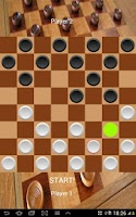 Screenshot of Checkers Board Game