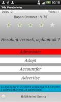 Screenshot of YDS VOCABULARY