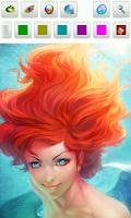 Screenshot of Mermaid Coloring Pages