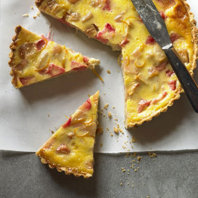 Apple, Rhubarb & Custard Tart