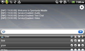 Screenshot of Spontania Mobile