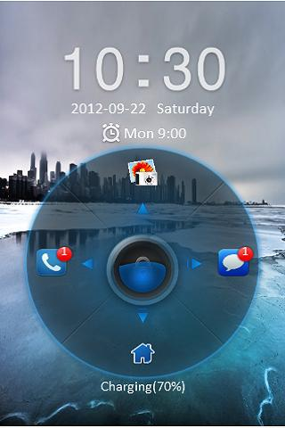 Blue Ice Go locker theme