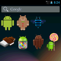 Screenshot of Waving Droid Widget