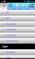 Screenshot of Scottish football news 2014