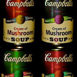 Soup Cans by Andrew Robinson - Food & Drink Eating ( campbell's, soup )