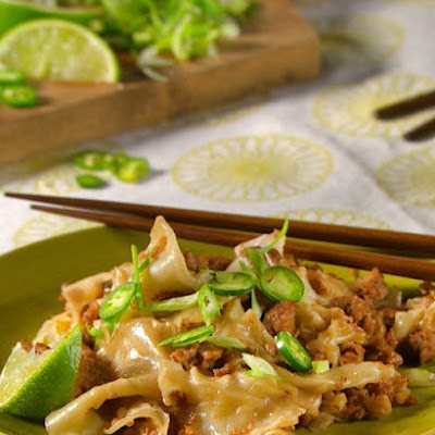 Pork and Ginger Wonton Stir-Fry