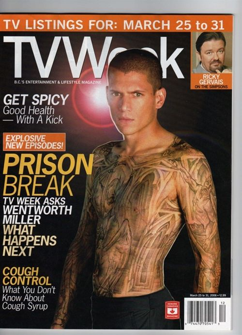 Wentworth Miller Magazine Covers Photos