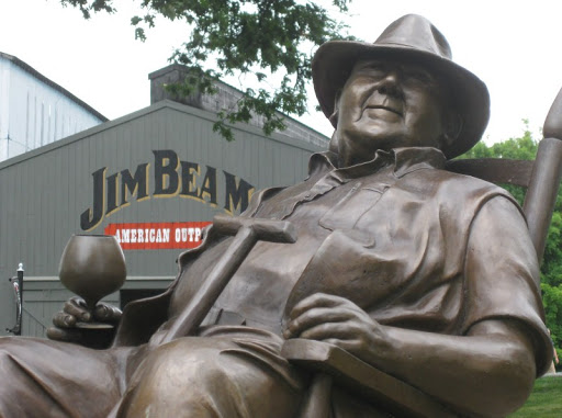 Statue of Booker Noe at Jim Beam Distillery