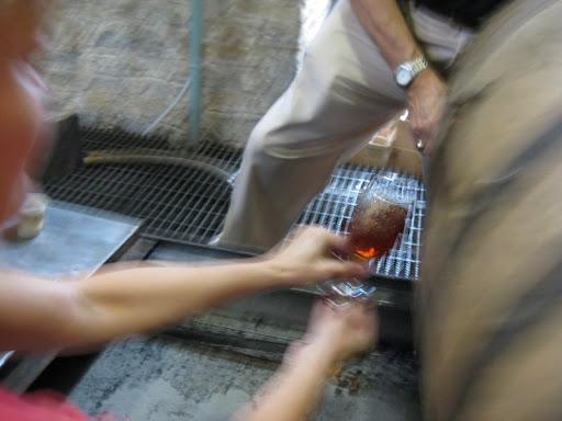 Sampling a Barrel at Woodford Reserve Distillery