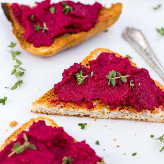 Roasted Beet, Goat Cheese & Thyme Dip