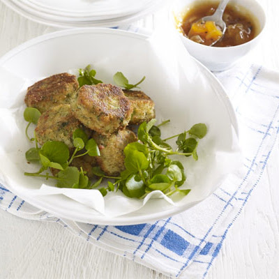 Coriander Potato Cakes With Mango Chutney