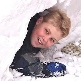 Snow tunnel fun. by Carolyn Kernan - Babies & Children Children Candids (  )