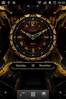 Screenshot of SEROYS Luxury Clock Widget