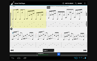 Screenshot of Guitar Tab Player
