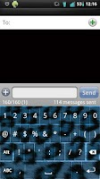 Screenshot of Blue Cheetah Keyboard Skin