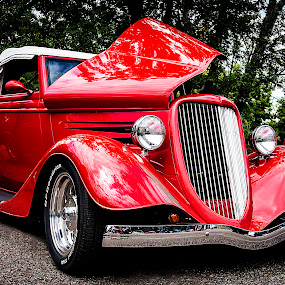 Brilliant Red by Nancy Senchak - Transportation Automobiles