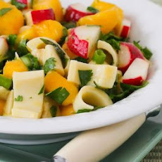 Mango Salad with Hearts of Palm, Radishes, Lime, and Cilantro