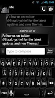 Screenshot of GO SMS Dark Style Theme