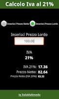Screenshot of Iva al 21%
