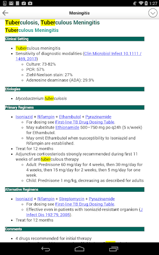 Sanford Guide:Antimicrobial Rx - screenshot