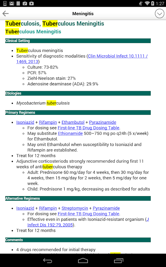 Sanford Guide:Antimicrobial Rx Screenshot 10