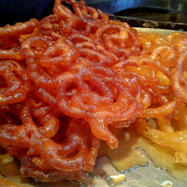 Indian Sweet  - Jalebi by Nitin Agarwal - Food & Drink Candy & Dessert ( orange, sweet, sweets, jalebi, indian sweet, yellow, sunset yellow, unshaped )