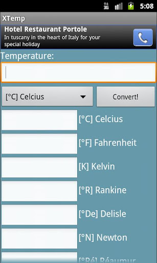 XTemp Temperature Converter