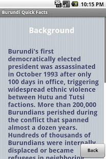 Burundi Quick Facts - screenshot