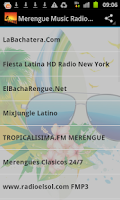 Screenshot of Merengue Music Radio Stations