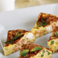 Spring Onion & Smoked Salmon Frittata
