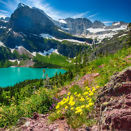 Glacier National Park by Jim Kuhn - Landscapes Mountains & Hills ( glacier, mountain, grinnell, lake, glacier national park )