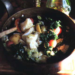 Cod with Braised Kale and Potatoes