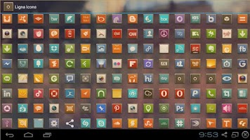 Screenshot of LIGNA ICONS FREE APEX/NOVA/ADW