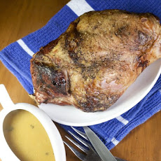 Icelandic-Style Roast Leg of Lamb with Gravy.