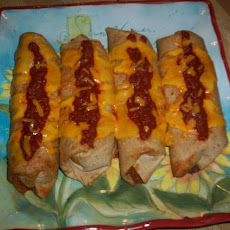 Oven-Fried Beef Chimichangas
