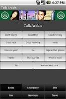 Screenshot of Talk Arabic